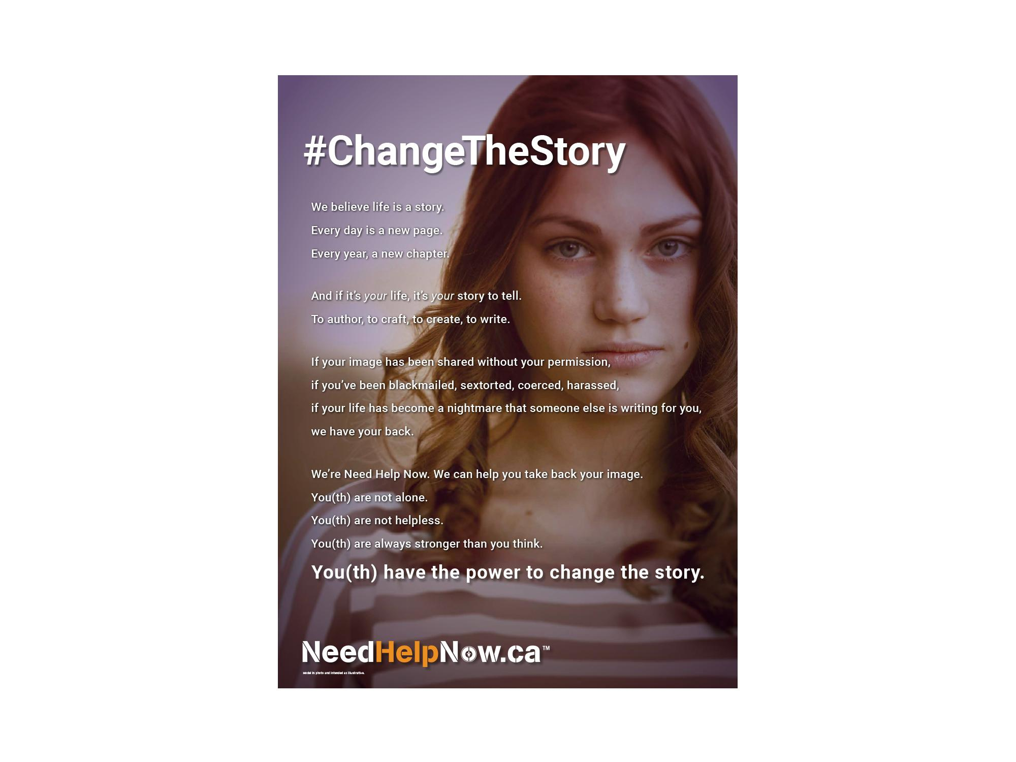 Need Help Now #ChangeTheStory Manifesto Poster